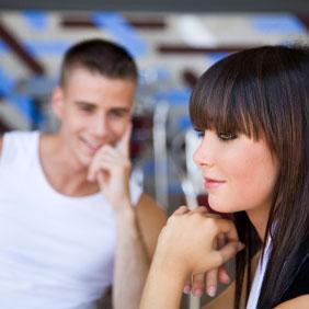 Flirten aanrakingen